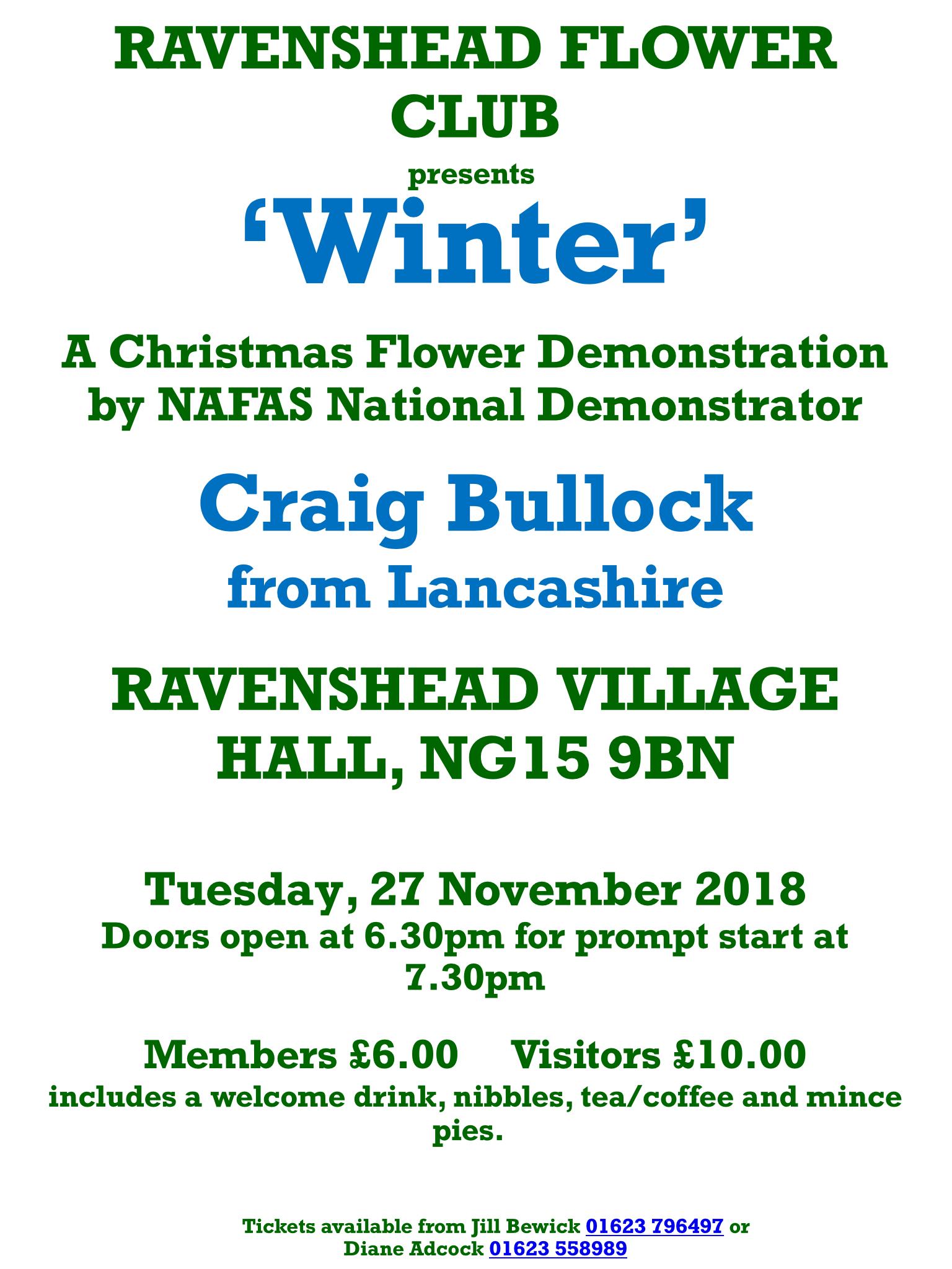 ravenshead flower club craig bullock