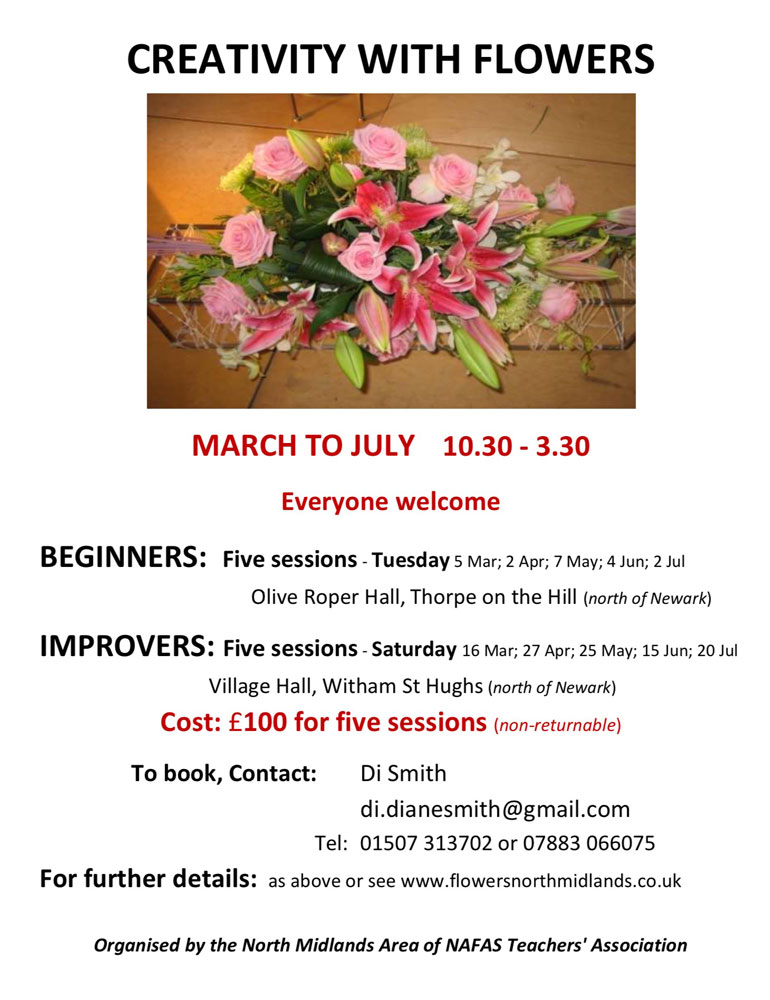 creativity with flowers march to july 2019