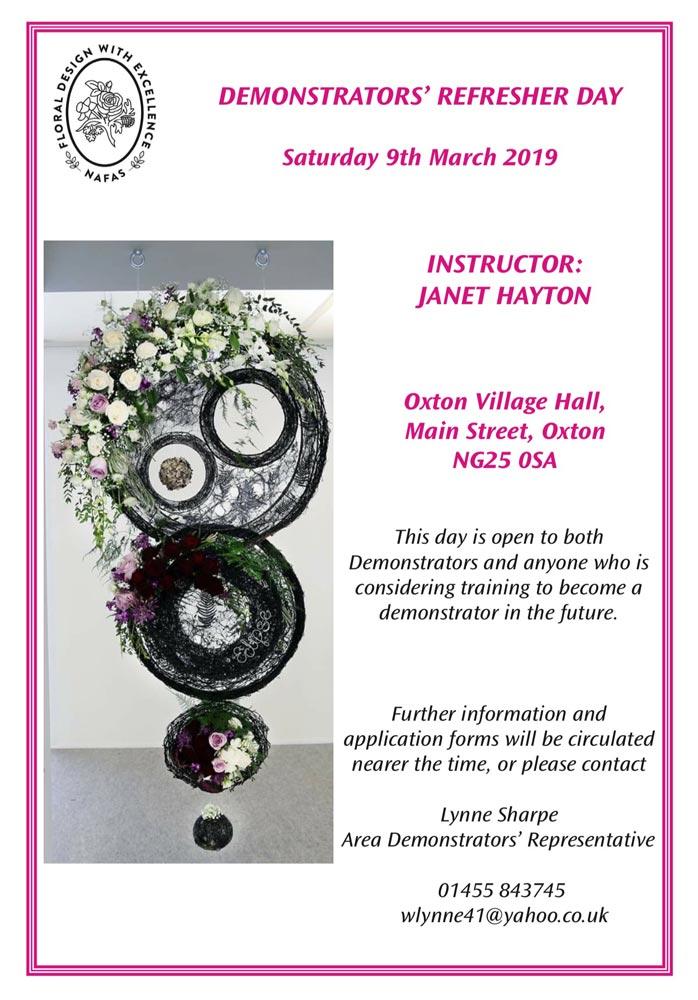 janet hayton flower arranging demonstration