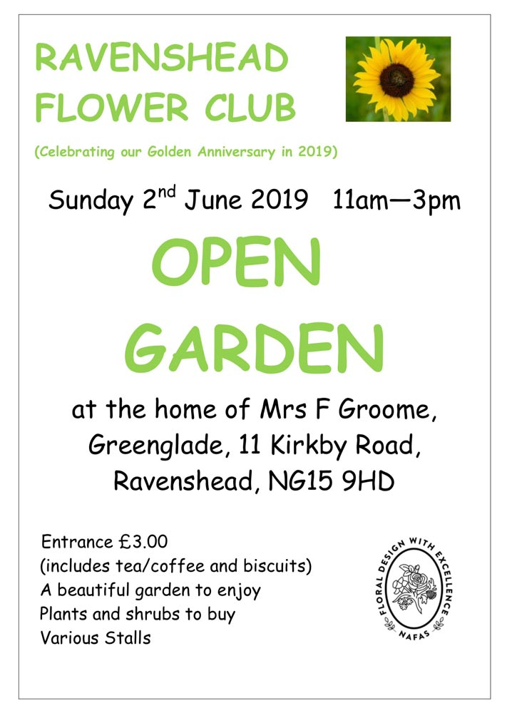 ravenshead flower club open garden event